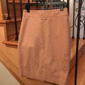 Blushing Ann Taylor loft pencil skirt. Size 6. NWT